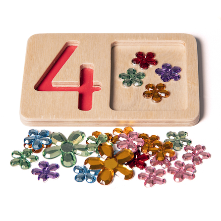 Wooden Number Trays  large