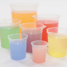 Plastic Graduated Beaker Set 7pcs  medium