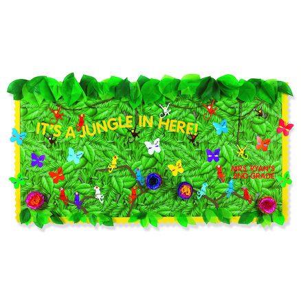 Tropical Foliage Fadeless Display Roll 1218mmx15m  large