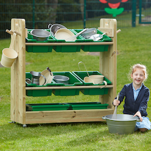 Outdoor Wooden Loose Parts Trolley  medium