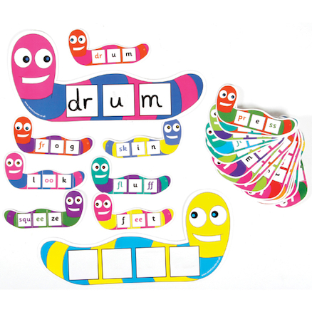 Word Worms \- Synthetic Phonics  large