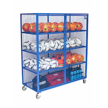 Lockable Mobile Ball Storage Cabinet  medium