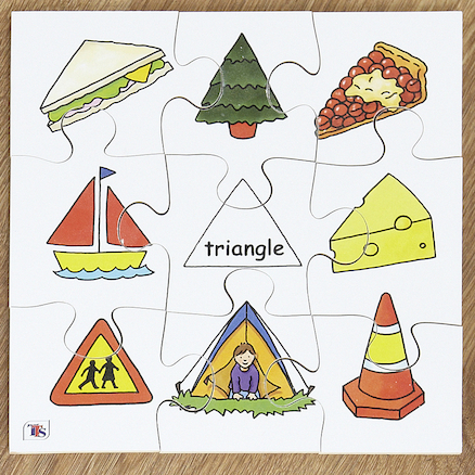 Wooden Shape Recognition Jigsaw Puzzle 4pk  large
