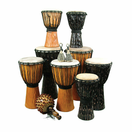 Medium Djembe Drum Pack 12 Players  large