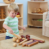 Wooden Cylinders and Balls for Babies 21pk  small