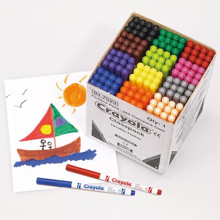 Buy Crayola Washable Felt Tip Pens Assorted 144pk Tts