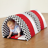 Black and White Striped Soft Baby Tunnel  small