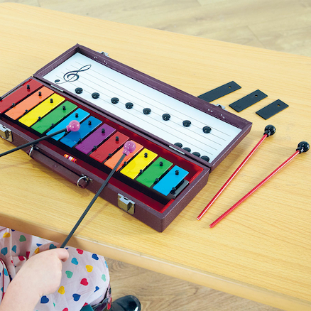 Rainbow Soprano Glockenspiel With Beaters  large