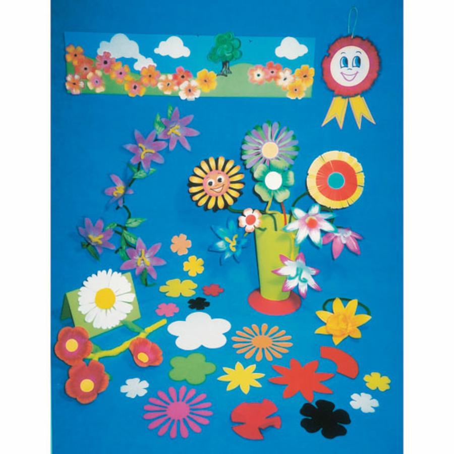 Buy Paper Flower Shapes Assorted 500pk Tts