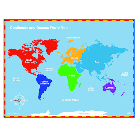 Continents and Oceans Maps