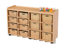 Storage Unit with 8 Shallow 6 Deep Wicker Baskets  small