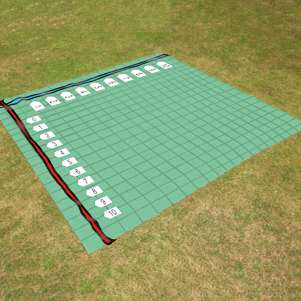 Outdoor Maths Coordinate Grid Carpet  large