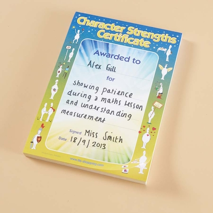 Character Strengths Certificates 100pk  large