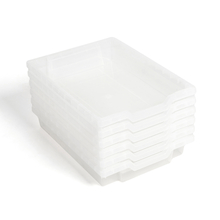 Gratnells Shallow Tray 6pk Clear  medium