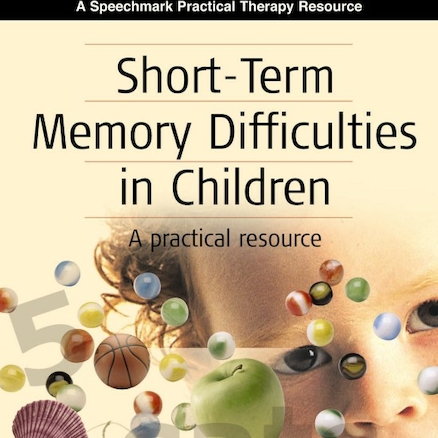 Short Term Memory Difficulties In Children Book  large