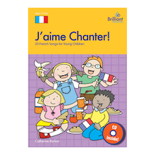 J'aime Chanter! French Song Book and CD  medium