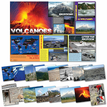 100 x 70cm Volcanoes Poster and Photopack A4 16pk  medium