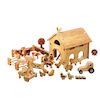 Natural Wooden Small World Barn and Farm Set  small
