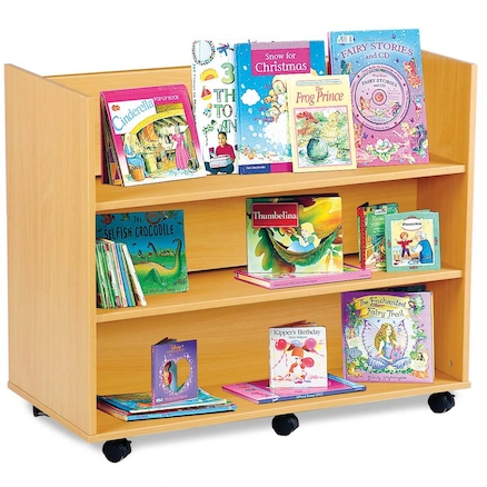 Double Sided Book Display Unit with Shelves  large