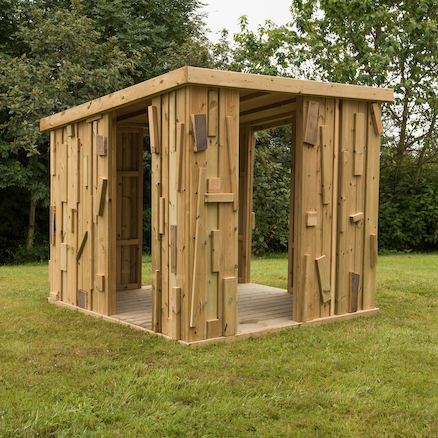 Outdoor Wooden Shabby Shack Shelter  large