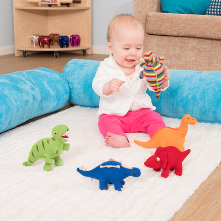 Knitted Dinosaurs Set of 5  large
