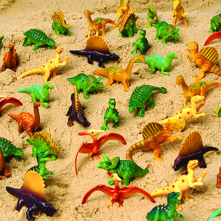 Plastic Mini Assorted Dinosaurs 48pk  large