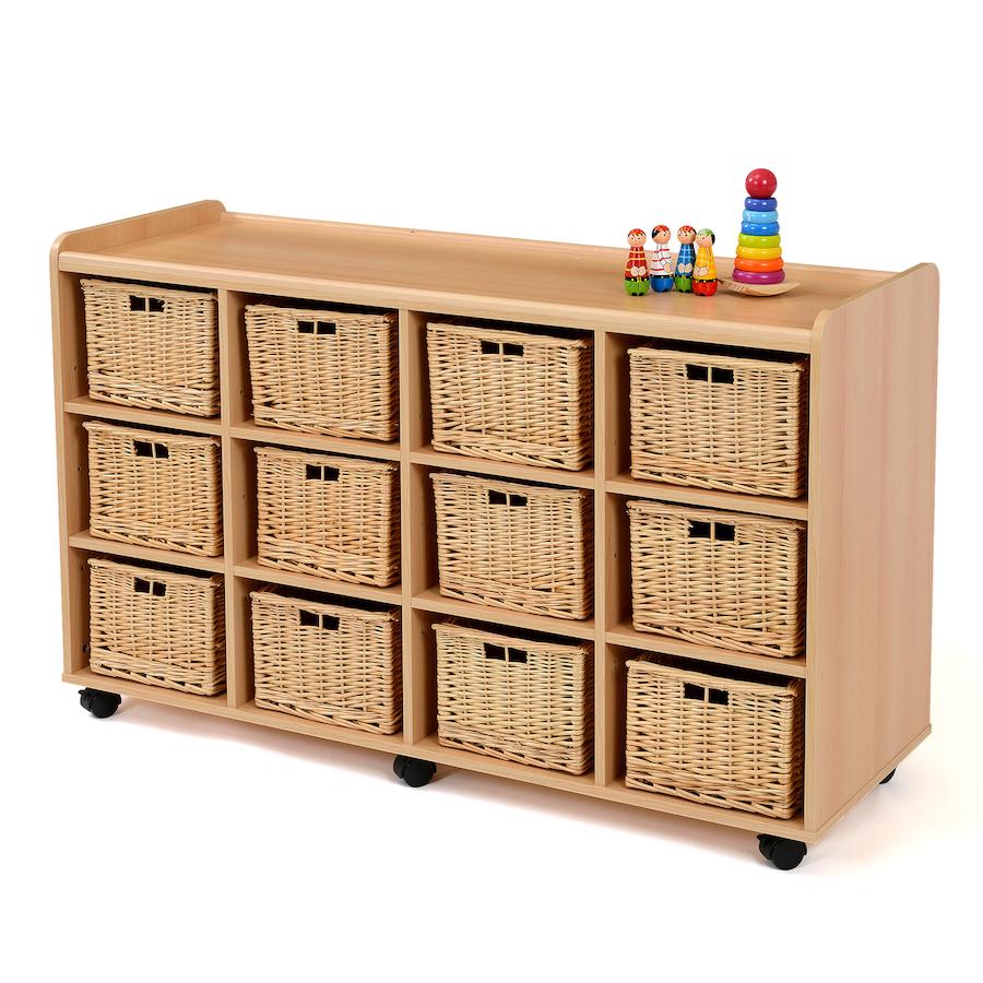 Buy Coniston Wicker Storage Basket: Buy Storage Unit With 12 Deep Wicker Baskets
