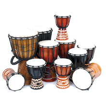 Beginners Multicultural Djembe Drums 11pk  medium