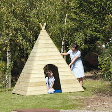 Terrific Wooden Teepee W150 x D150 x H165cm  medium