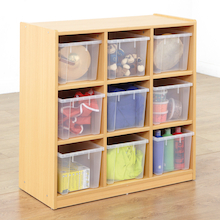 Open Storage Unit with Nine Large Compartments  medium