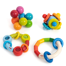 Wooden Baby Grasping Toys Set 2 4pk  medium
