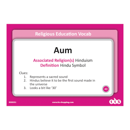 Religious Education Vocabulary Cards KS1 and KS2  large