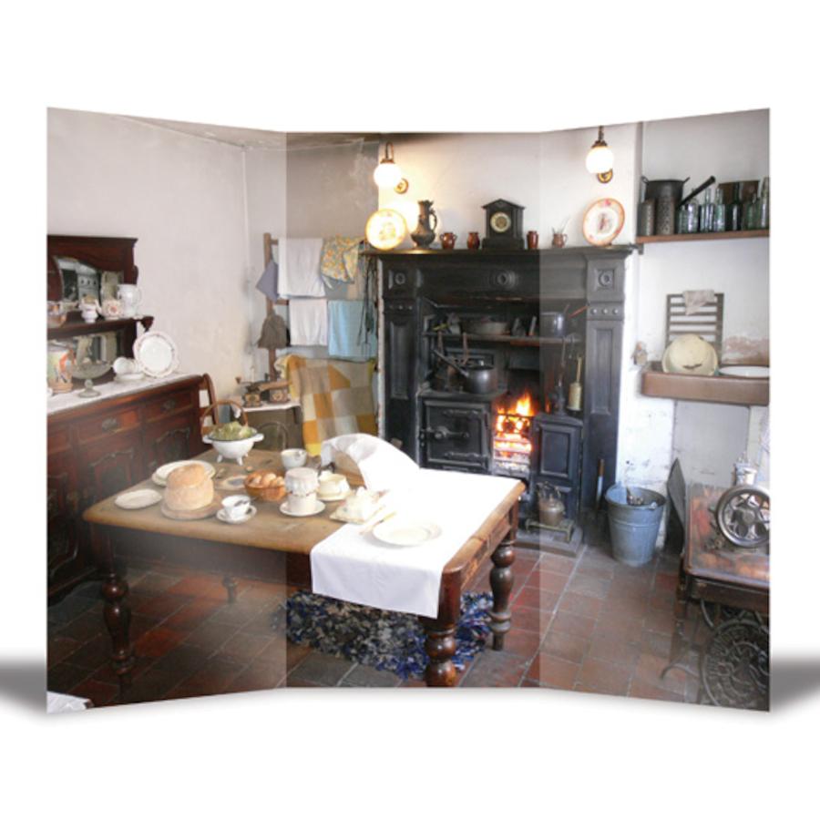 Buy Victorian Kitchen Vinyl Eyleted Backdrop Tts
