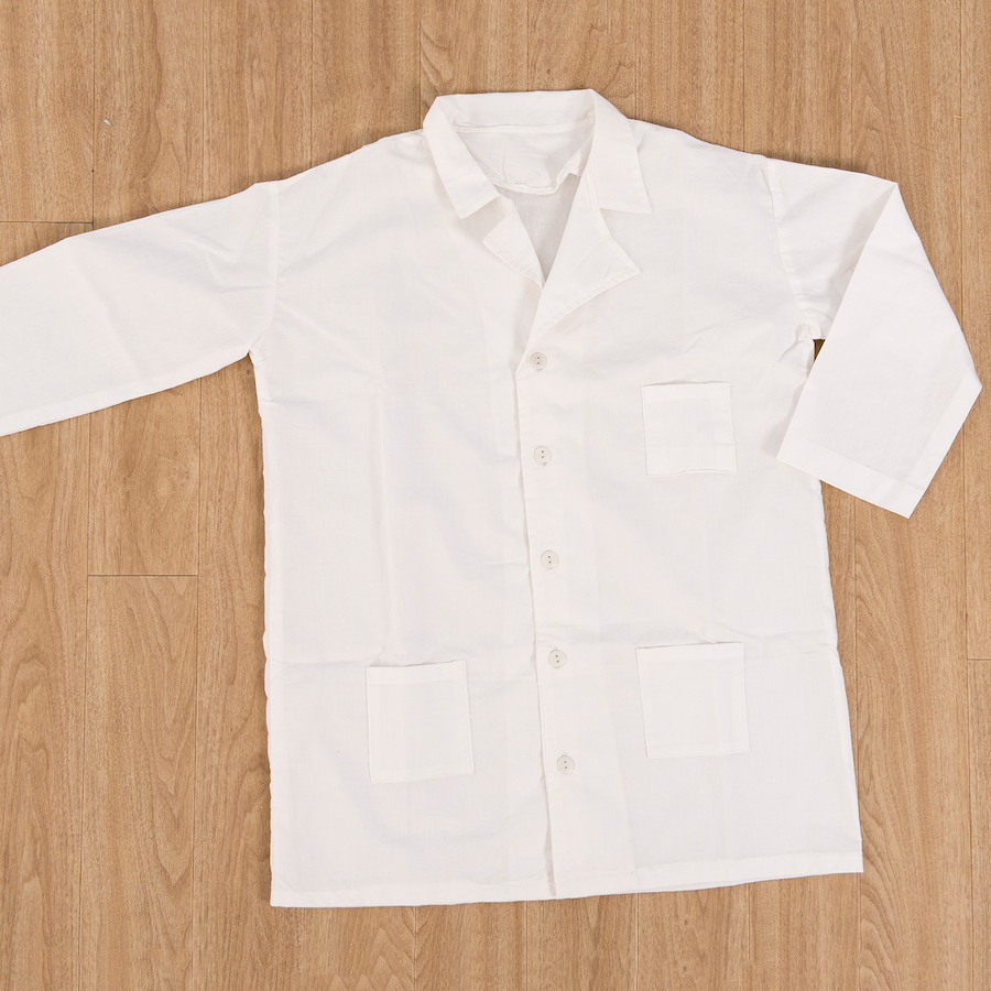 Small Childrens White Cotton Lab Coat for Science Projects and Arts /& Crafts