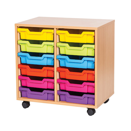 VALUE 12 Tray Storage Unit with Trays  large