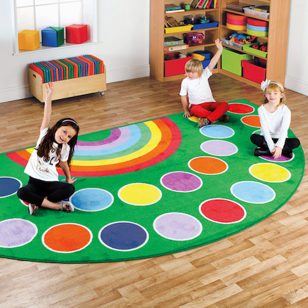 Rainbow Placement Rugs  large