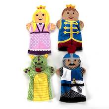 Role Play Palace People Puppet Set 4pcs  medium