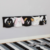 Black and White Wall Mounted Storage Pockets 132cm  small