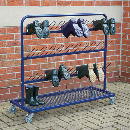 Single Sided Metal Wellie Rack L110 x W30 x H100cm  large