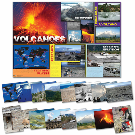 100 x 70cm Volcanoes Poster and Photopack A4 16pk  large
