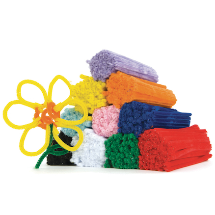 Assorted Mini Chenille Pipe Cleaners 15cm 1000pk  large