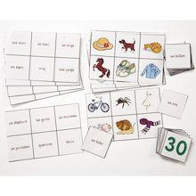 French Phonics Bingo Game  medium