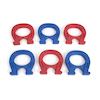Colourful Horseshoe Magnets 6pk  small