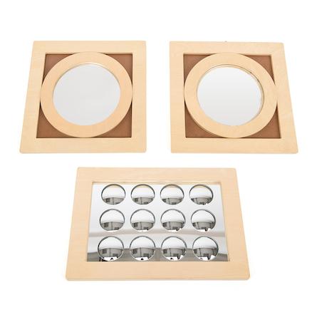 Buy Convex Concave Wooden Mirror Frames 3pk Tts