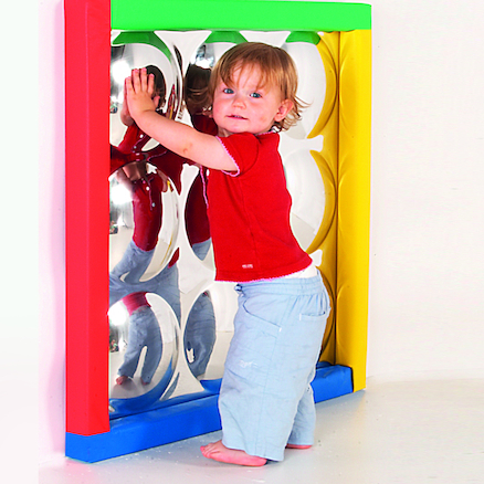 Sensory Bubble Mirror with Padded Frame  large
