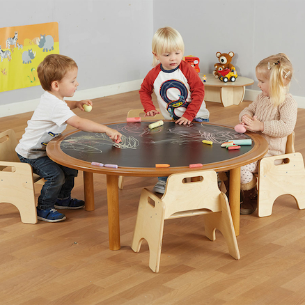 Mini Mark Makers Round Creative Chalkboard Table  large