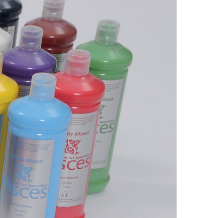 Pisces Ready Mixed Paint Assorted Colours 1L 16pk  large
