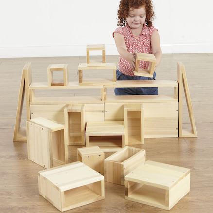 Giant Wooden Hollow Building Blocks  large