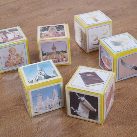 World Religions Pocket Dice Cards  large