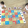 Money Snakes And Ladders Vinyl Mat with Cards  small